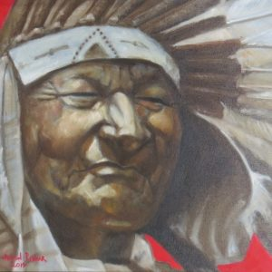 Painting of Indian chief