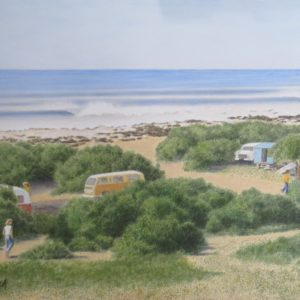 Painting of Jeffreys Bay in 1970