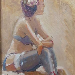Painting of pin-up model