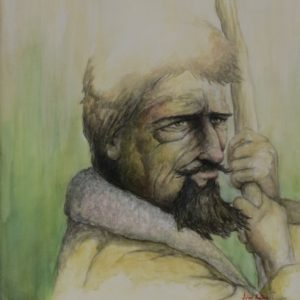 Painting of a shepherd