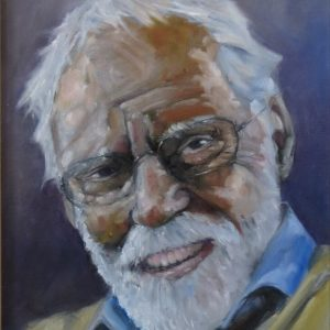 Portrait painting of old man